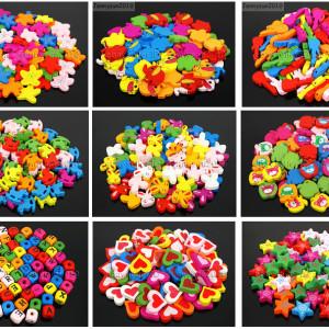 Colorful-Cartoon-Animal-Wood-Flat-Pendant-Charm-Bead-Toy-Lead-Free-Environmental-282041326735