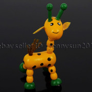 Colorful-Giraffe-Wood-Pendant-Charm-Beads-Toy-28mmx33mm-Lead-Free-Environmental-371632410539-3