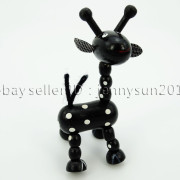 Colorful-Giraffe-Wood-Pendant-Charm-Beads-Toy-28mmx33mm-Lead-Free-Environmental-371632410539-3236