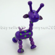 Colorful-Giraffe-Wood-Pendant-Charm-Beads-Toy-28mmx33mm-Lead-Free-Environmental-371632410539-36c2