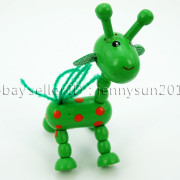 Colorful-Giraffe-Wood-Pendant-Charm-Beads-Toy-28mmx33mm-Lead-Free-Environmental-371632410539-5740