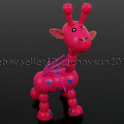 Colorful-Giraffe-Wood-Pendant-Charm-Beads-Toy-28mmx33mm-Lead-Free-Environmental-371632410539-62b0