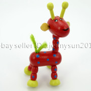 Colorful-Giraffe-Wood-Pendant-Charm-Beads-Toy-28mmx33mm-Lead-Free-Environmental-371632410539-6e2f