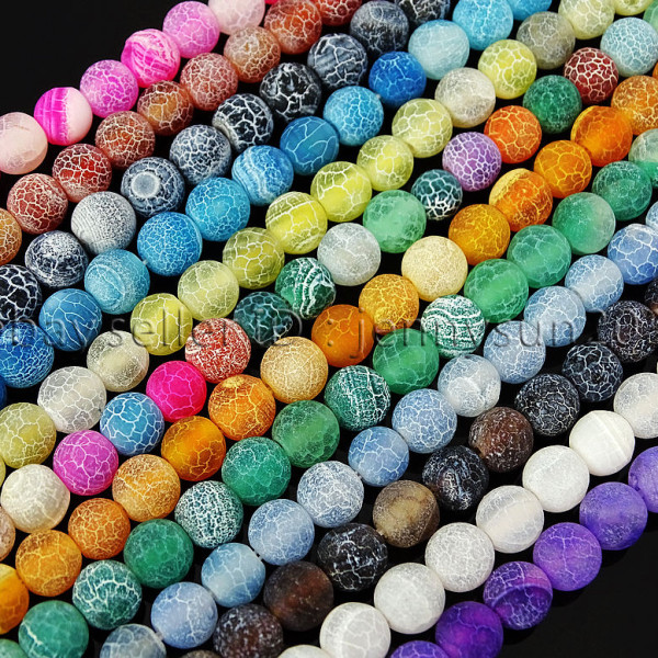Colorful-Matte-Fire-Crackle-Agate-Gemstones-Round-Beads-15-4mm-6mm-8mm-10mm-371648721329
