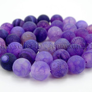 Colorful-Matte-Fire-Crackle-Agate-Gemstones-Round-Beads-15quot-4mm-6mm-8mm-10mm-371648721329-61c7