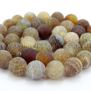 Colorful-Matte-Fire-Crackle-Agate-Gemstones-Round-Beads-15quot-4mm-6mm-8mm-10mm-371648721329-b352