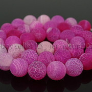 Colorful-Matte-Fire-Crackle-Agate-Gemstones-Round-Beads-15quot-4mm-6mm-8mm-10mm-371648721329-b449