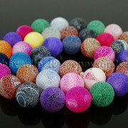 Colorful-Matte-Fire-Crackle-Agate-Gemstones-Round-Beads-15quot-4mm-6mm-8mm-10mm-371648721329-dfa9