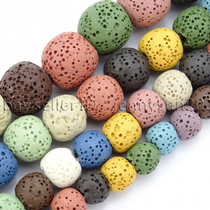Colorful-Volcanic-Lava-Gemstones-Round-Spacer-Beads-155-8mm-10mm-12mm-14mm-262364362364