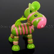 Colorful-Zebra-Wood-Pendant-Charm-Beads-Toy-28mm-x-30mm-Lead-Free-Environmental-282035904299-0586
