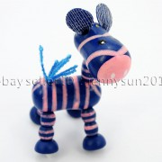 Colorful-Zebra-Wood-Pendant-Charm-Beads-Toy-28mm-x-30mm-Lead-Free-Environmental-282035904299-0d39