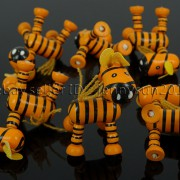 Colorful-Zebra-Wood-Pendant-Charm-Beads-Toy-28mm-x-30mm-Lead-Free-Environmental-282035904299-5