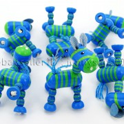 Colorful-Zebra-Wood-Pendant-Charm-Beads-Toy-28mm-x-30mm-Lead-Free-Environmental-282035904299-7