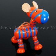 Colorful-Zebra-Wood-Pendant-Charm-Beads-Toy-28mm-x-30mm-Lead-Free-Environmental-282035904299-cdb0