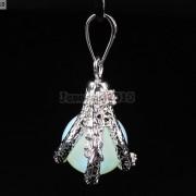 Crystal-Rhinestone-Dragon-Claw-Gemstone-Round-Reiki-Chakra-Healing-Pendant-Bead-281425678023-10