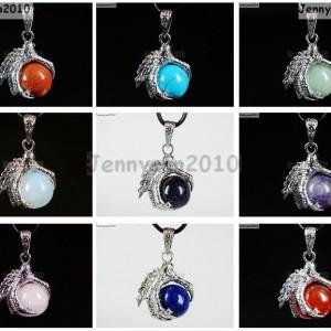 Crystal-Rhinestone-Dragon-Claw-Gemstone-Round-Reiki-Chakra-Healing-Pendant-Bead-281425678023
