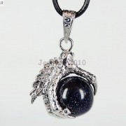 Crystal-Rhinestone-Dragon-Claw-Gemstone-Round-Reiki-Chakra-Healing-Pendant-Bead-281425678023-30d6