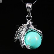 Crystal-Rhinestone-Dragon-Claw-Gemstone-Round-Reiki-Chakra-Healing-Pendant-Bead-281425678023-5a2a