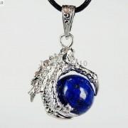 Crystal-Rhinestone-Dragon-Claw-Gemstone-Round-Reiki-Chakra-Healing-Pendant-Bead-281425678023-72fe