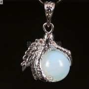 Crystal-Rhinestone-Dragon-Claw-Gemstone-Round-Reiki-Chakra-Healing-Pendant-Bead-281425678023-8