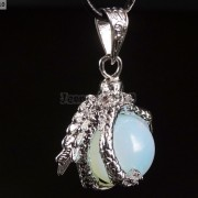 Crystal-Rhinestone-Dragon-Claw-Gemstone-Round-Reiki-Chakra-Healing-Pendant-Bead-281425678023-9