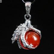 Crystal-Rhinestone-Dragon-Claw-Gemstone-Round-Reiki-Chakra-Healing-Pendant-Bead-281425678023-9ed3