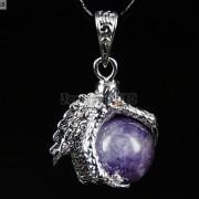 Crystal-Rhinestone-Dragon-Claw-Gemstone-Round-Reiki-Chakra-Healing-Pendant-Bead-281425678023-d59f