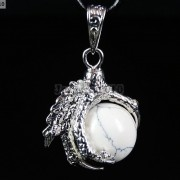 Crystal-Rhinestone-Dragon-Claw-Gemstone-Round-Reiki-Chakra-Healing-Pendant-Bead-281425678023-e423