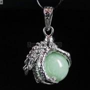 Crystal-Rhinestone-Dragon-Claw-Gemstone-Round-Reiki-Chakra-Healing-Pendant-Bead-281425678023-fbb5
