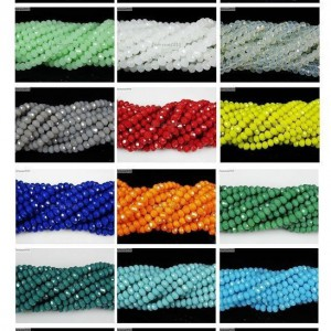 Czech-Crystal-2mm-x-3mm-Faceted-Rondelle-Loose-Beads-For-Bracelet-Necklace-Craft-261311838570