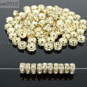 Czech-Crystal-Rhinestone-Light-Rose-Gold-Rondelle-Spacer-Beads-4mm-6mm-8mm-10mm-370892914442