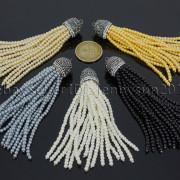 Czech-Glass-Pearl-Round-Beads-Tassel-Trim-Applique-Jewelry-Design-Pendant-10cm-262456459225-2