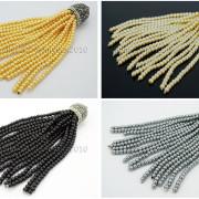Czech-Glass-Pearl-Round-Beads-Tassel-Trim-Applique-Jewelry-Design-Pendant-10cm-262456459225-4