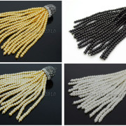 Czech-Glass-Pearl-Round-Beads-Tassel-Trim-Applique-Jewelry-Design-Pendant-10cm-262456459225-5