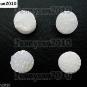 Druzy-Quartz-Agate-Side-Drilled-Flat-Back-Connector-Cabochon-Round-Beads-10mm-261157506509-221f