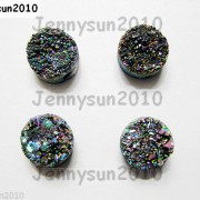 Druzy-Quartz-Agate-Side-Drilled-Flat-Back-Connector-Cabochon-Round-Beads-10mm-261157506509-4439