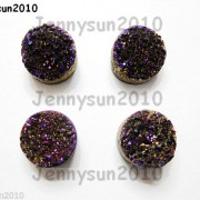 Druzy-Quartz-Agate-Side-Drilled-Flat-Back-Connector-Cabochon-Round-Beads-10mm-261157506509-4db4