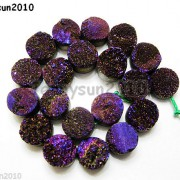 Druzy-Quartz-Agate-Side-Drilled-Flat-Back-Connector-Cabochon-Round-Beads-10mm-261157506509-8576