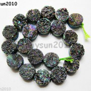 Druzy-Quartz-Agate-Side-Drilled-Flat-Back-Connector-Cabochon-Round-Beads-10mm-261157506509-ae75