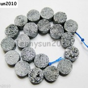 Druzy-Quartz-Agate-Side-Drilled-Flat-Back-Connector-Cabochon-Round-Beads-10mm-261157506509-f9cc