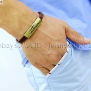 GOD-BLESS-Cross-Antique-Bronze-Leather-Wristband-Magnetic-Cuff-Bangle-Bracelet-262024487664-9