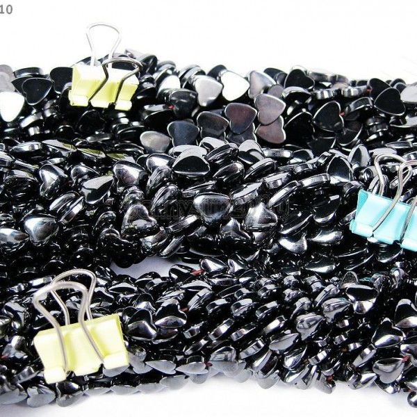 Grade-AAA-Healing-Natural-MAGNETIC-Hematite-Gemstone-Heart-Beads-16-6mm-8mm-281230526538