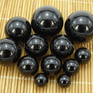 Grade-AAA-Natural-Black-Onyx-Gemstone-Round-Sphere-Ball-Healing-Collectibles-282232447351