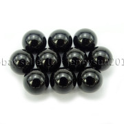 Grade-AAA-Natural-Black-Onyx-Gemstone-Round-Sphere-Ball-Healing-Collectibles-282232447351-a148