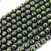 Green-Sand-Stone-Gemstone-Faceted-Round-Ball-Loose-Beads-15-6mm-8mm-10mm-12mm-281182403324