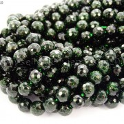 Green-Sand-Stone-Gemstone-Faceted-Round-Ball-Loose-Beads-15-6mm-8mm-10mm-12mm-281182403324-2