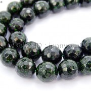 Green-Sand-Stone-Gemstone-Faceted-Round-Ball-Loose-Beads-15-6mm-8mm-10mm-12mm-281182403324-3