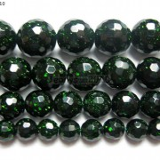 Green-Sand-Stone-Gemstone-Faceted-Round-Ball-Loose-Beads-15-6mm-8mm-10mm-12mm-281182403324-4