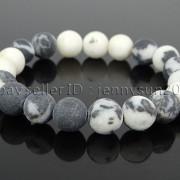Handmade-10mm-Matte-Frosted-Natural-Gemstones-Round-Beads-Stretchy-Bracelet-371748654789-19df