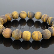 Handmade-10mm-Matte-Frosted-Natural-Gemstones-Round-Beads-Stretchy-Bracelet-371748654789-2e8f